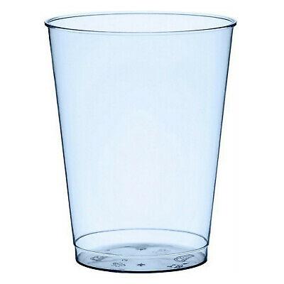 160 Stück Gläser Plastikbecher 0,2L Trinkglas Trinkbecher Einwegbecher Glas Blau