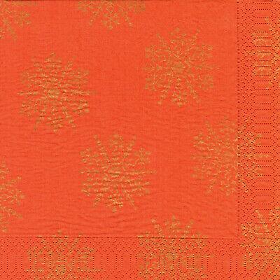 1.000 Duni Servietten 40 x 40 cm 3-lagig Tissue-Qualität Weihnachten Terrakotta