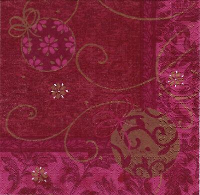 1.000 Duni Servietten 33 x 33 cm 3-lagig Tissue-Qualität Weihnachten Bordeaux