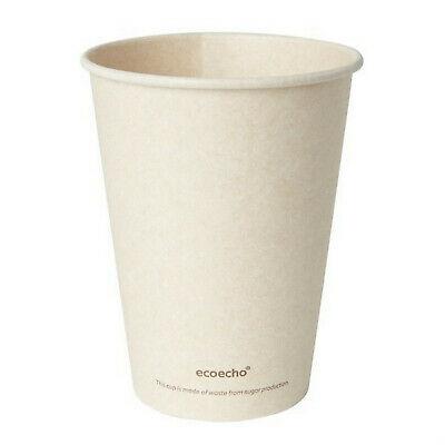 900 Stück Bio Pappbecher 0,3L Trinkbecher Coffee to go Kaffeebecher Heißgetränke