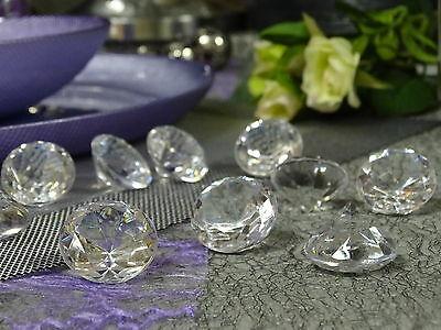 10-50 Deko Diamanten Acryl Ø 30mm Dekosteine klar Edelstein Streudeko Tischdeko - 20 Stück