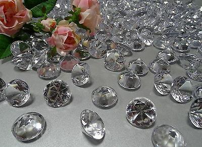 10-50 Deko Diamanten Acryl Ø 30mm Dekosteine klar Edelstein Streudeko Tischdeko