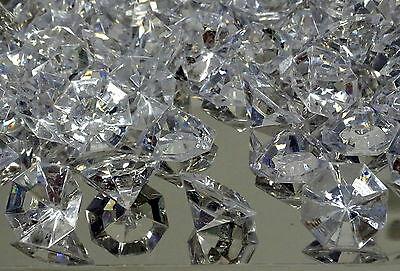 8/40 x Deko Diamanten Dekosteine Acryl klar 32mm Edelstein Streudeko Tischdeko  - 40 Stück