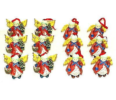 12 Stück Poly Engel Deko Figuren 100x80 mm Anhänger Engelchen Weihnachten