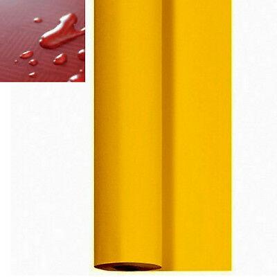 Tischdeckenrolle 25 m x 84 cm Biertisch abwischbar wasserabweisend Senf - Gelb
