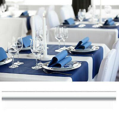 Tischdeckenrollen 30 m = 6 Rollen x 5 m stoffähnlich 125 cm Breite Vlies Weiß