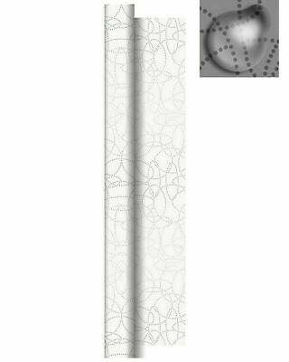 Tischdecke Rolle 25 m x 84 cm Biertisch abwischbar wasserabweisend Weiß