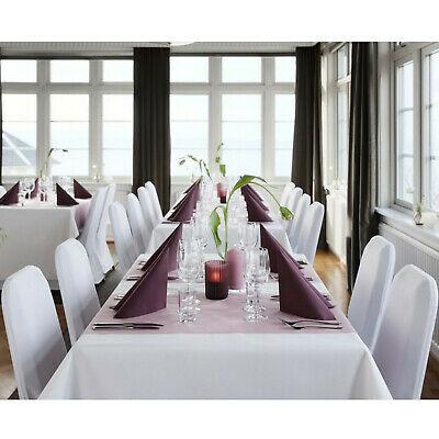 5 Stück Vlies Tischdecken 220 x 138 cm stoffähnlich Weiß Tischdeko 3,19€/Stück
