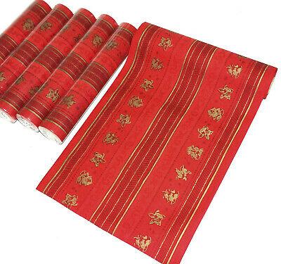6 Rollen Dunicel Tischläufer je 6 m x 30 cm Tischband Weihnachten yule stripes