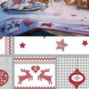 5 Stück Duni Tischdecke 220x138 cm Tischdecken stoffähnlich Nordic Weihnachten