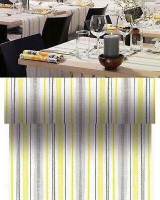 Duni Dunicel Tischläufer 24 x 0,40 m Tischband Dekoration Tischdeko Grau-Gelb