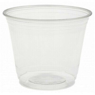 300 Stück Bio Einweg Gläser Becher 270ml recyceltes PET Schalen Glas transparent