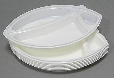 50-100 Stück Einweg Menüschalen 3-geteilt 345x225x35mm Teller oval Servierplatte - 50 Stück