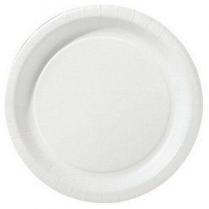 500 Stück Pappteller Kuchenteller Ø 18 cm beschichtet Einwegteller rund weiß