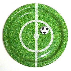 100 Stück Einweg Pappteller rund Ø 23cm Fußball Gartenparty Kindergeburtstag