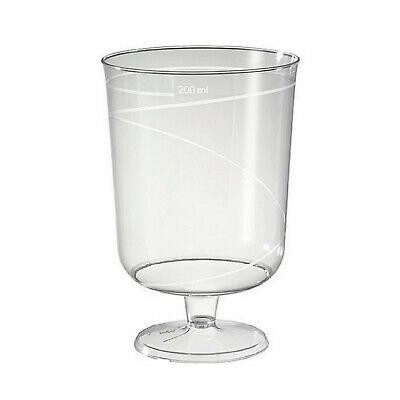 200 Stück Einweg Weingläser 200ml Weinglas Wasserglas Trinkbecher Klar 10er Pack