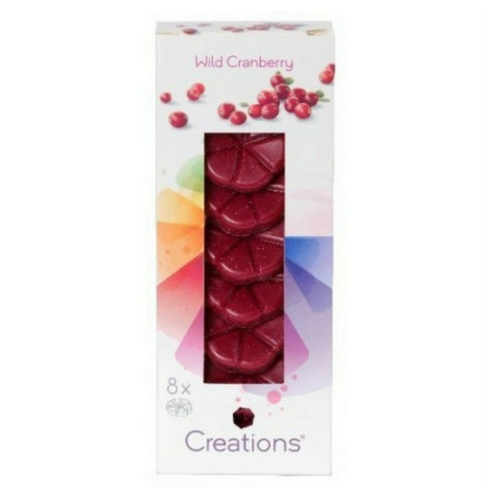 8 Stück Bolsius Creations Schmelzblüten Duftblüten Aromatic Wachs Melts Düfte  - Wild Granberry
