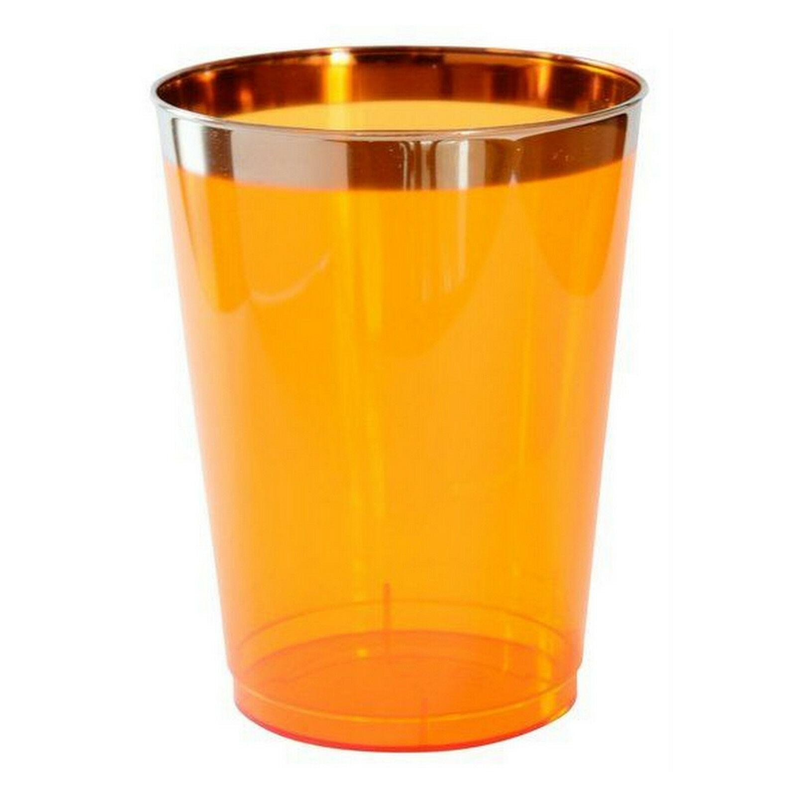 24 - 48 Stück Einweg Plastikteller 20,5cm, Plastikbecher 250ml, Weingläser 180ml - 48 Stück = 8 Pack.x 6 Stück, Trinkglas 250ml