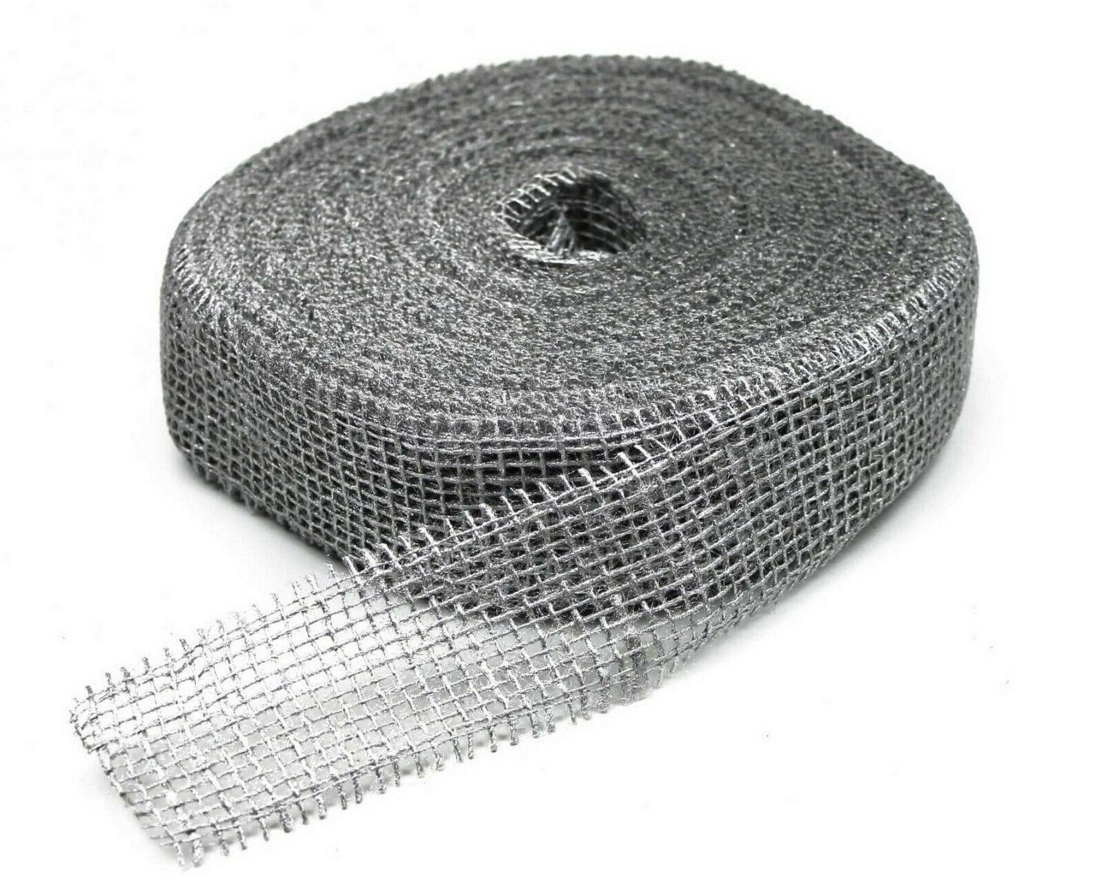 Juteband 40 m x 5 cm Dekoband ab 0,20 €/m Jute Rolle Schleifenband Rupfen Band - silber ( sehr hart)  40 m