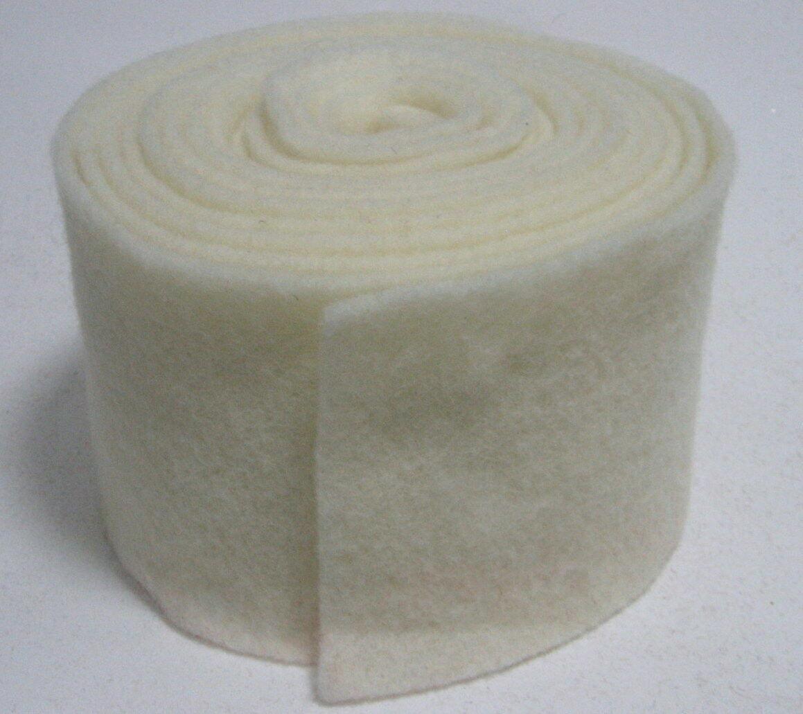 Topfband Filz 5 m x 15 cm Dekoband Wollvlies Filzband Wollband Schafwolle Bastel - Weiß