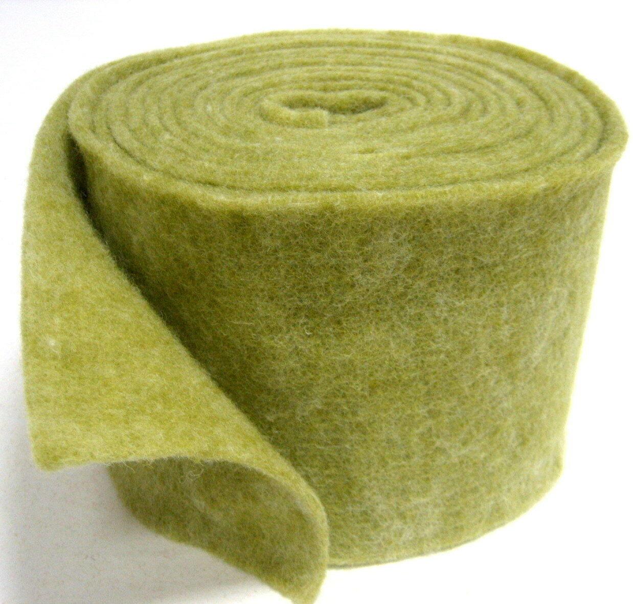Topfband Filz 5 m x 15 cm Dekoband Wollvlies Filzband Wollband Schafwolle Bastel - Olive