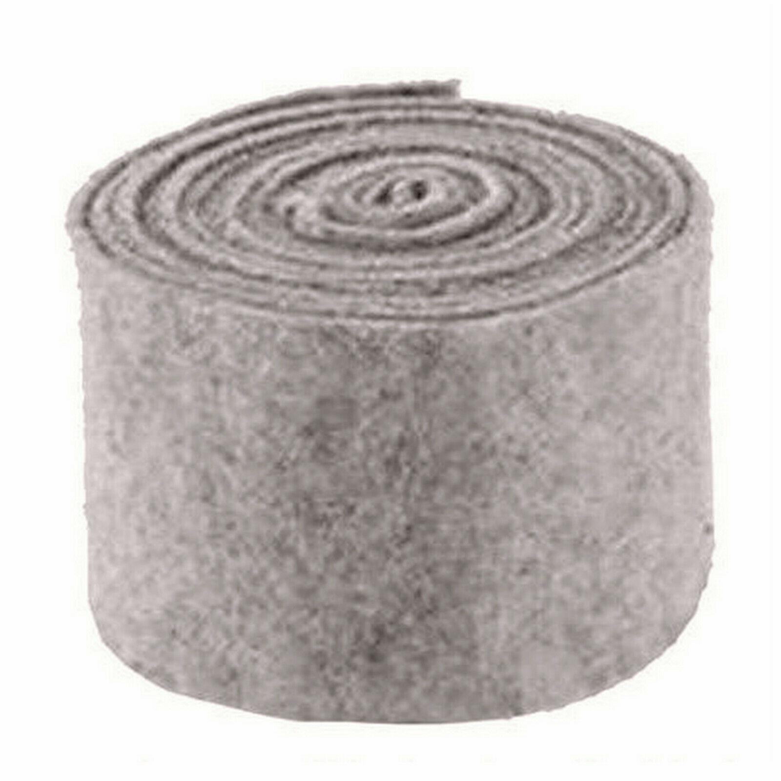 Topfband Filz 5 m x 15 cm Dekoband Wollvlies Filzband Wollband Schafwolle Bastel - Grau