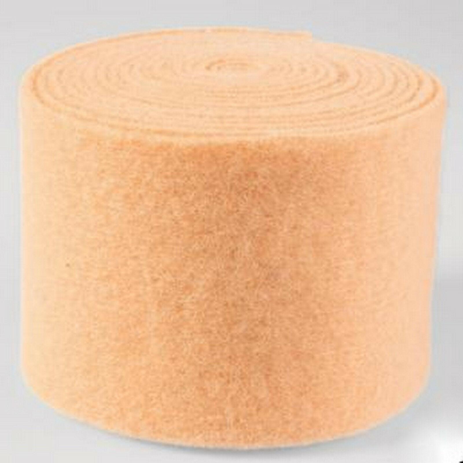 Topfband Filz 5 m x 15 cm Dekoband Wollvlies Filzband Wollband Schafwolle Bastel - Aprikot