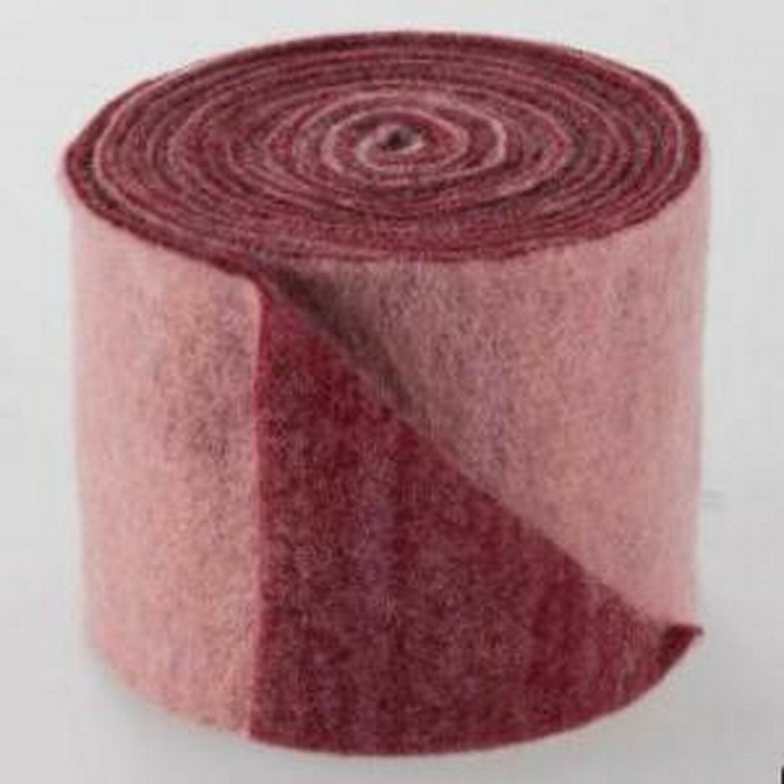 Topfband Filz 5 m x 15 cm zwei-farbige Dekoband Wollvlies Filz-Band Wollband  - rosa-bordeaux