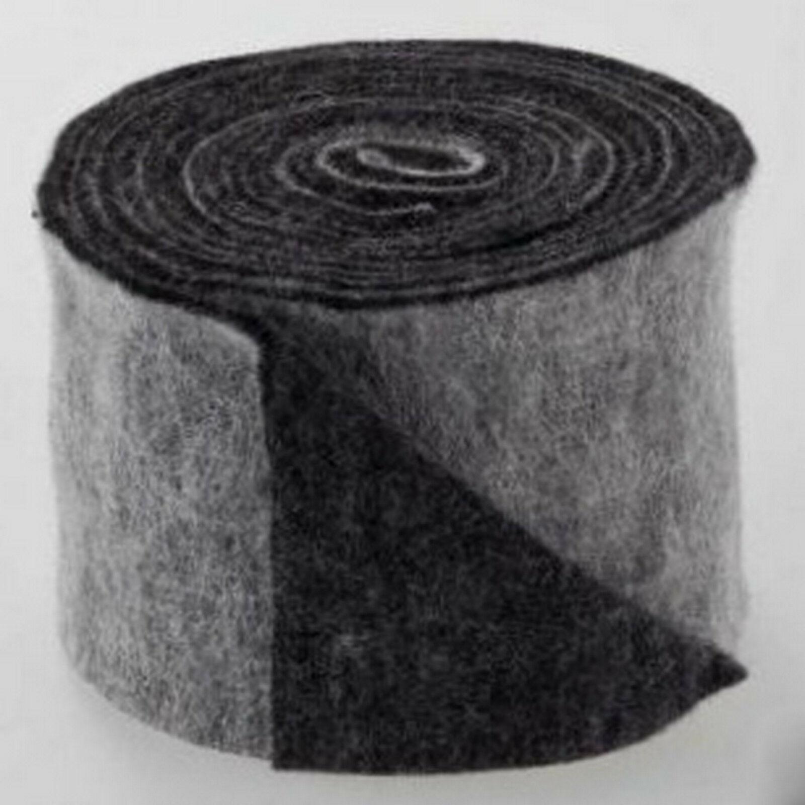 Topfband Filz 5 m x 15 cm zwei-farbige Dekoband Wollvlies Filz-Band Wollband  - grau-anthrazit