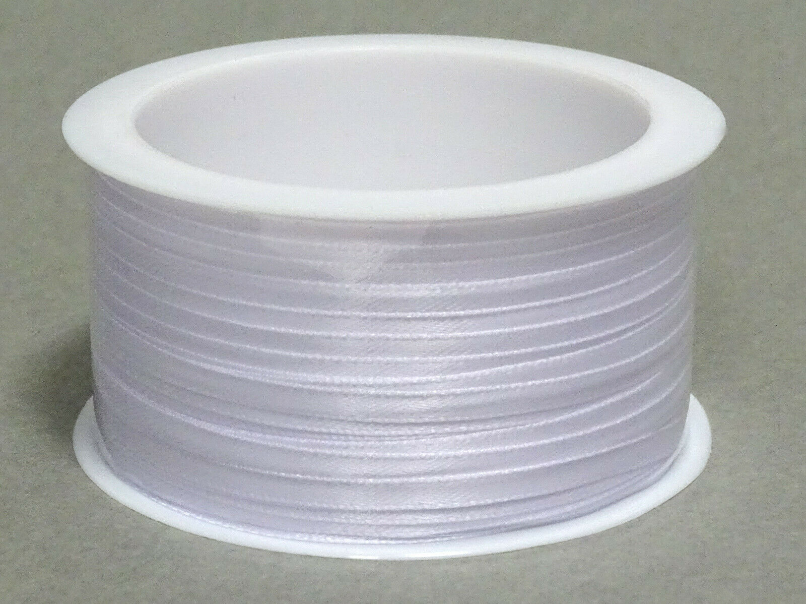 Satinband Schleifenband 50m x 3mm / 6mm Dekoband ab 0,05 €/m Geschenkband Rolle - Weiß 101, 3 mm x 50 m