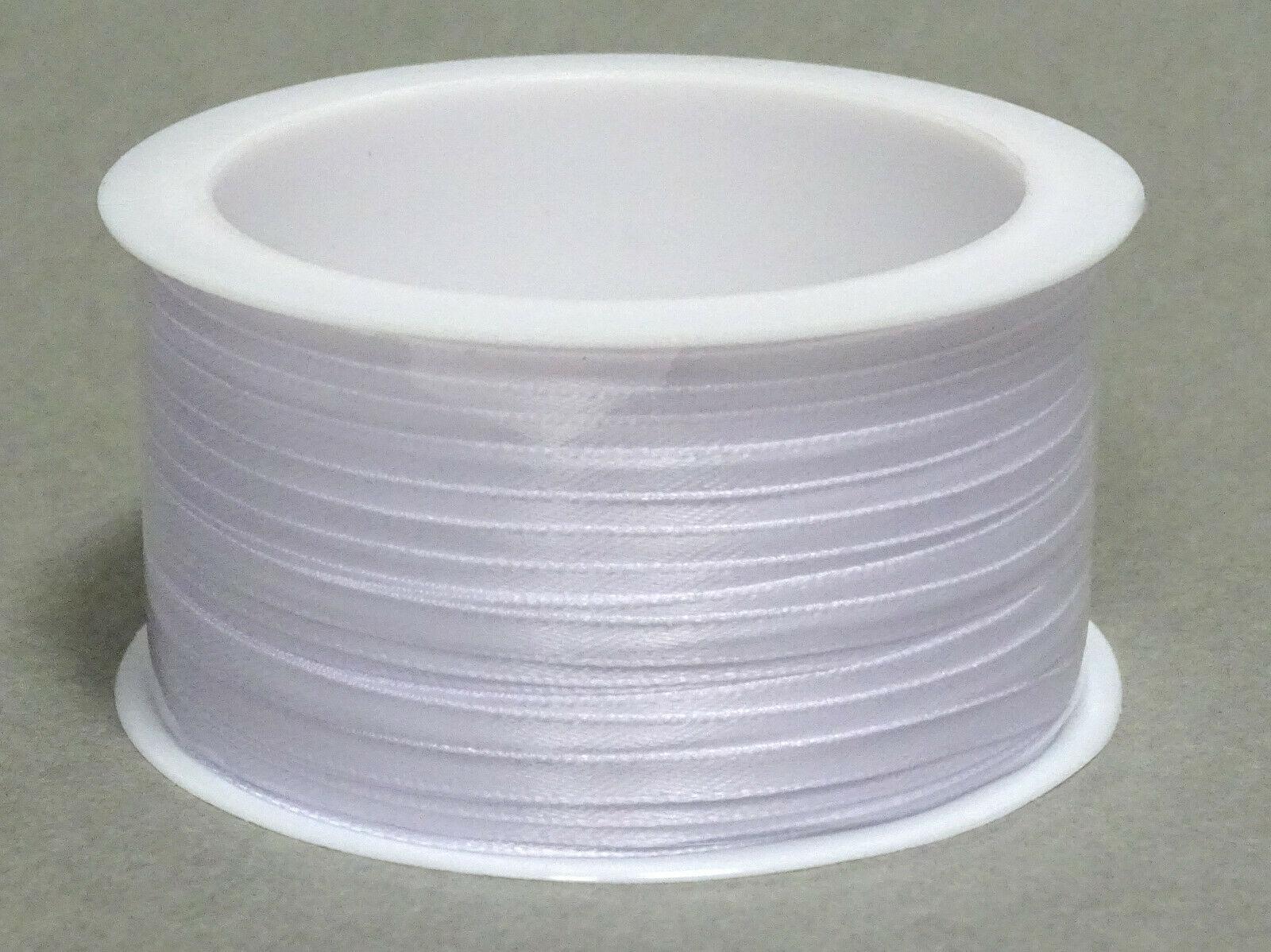 Satinband Schleifenband 50m x 3mm / 6mm Dekoband ab 0,05 €/m Geschenkband Rolle - Weiß 101, 6 mm x 50 m