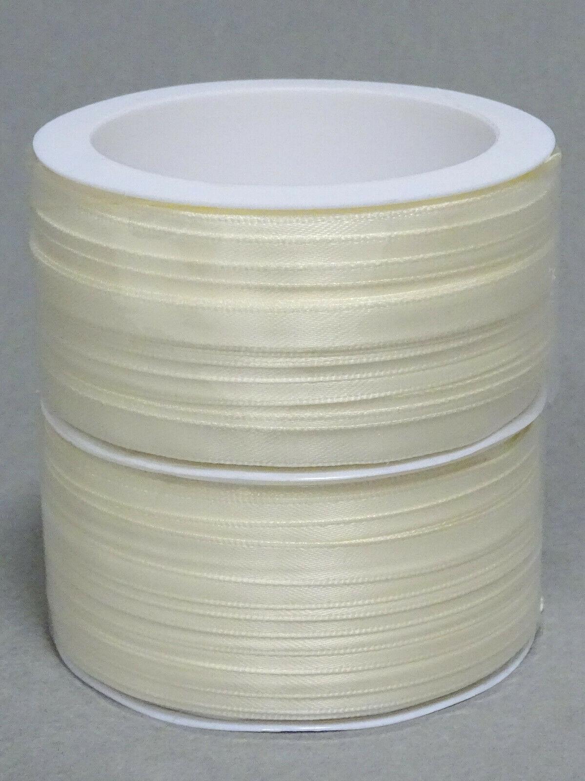Satinband Schleifenband 50m x 3mm / 6mm Dekoband ab 0,05 €/m Geschenkband Rolle - Elfenbein 202, 6 mm x 50 m