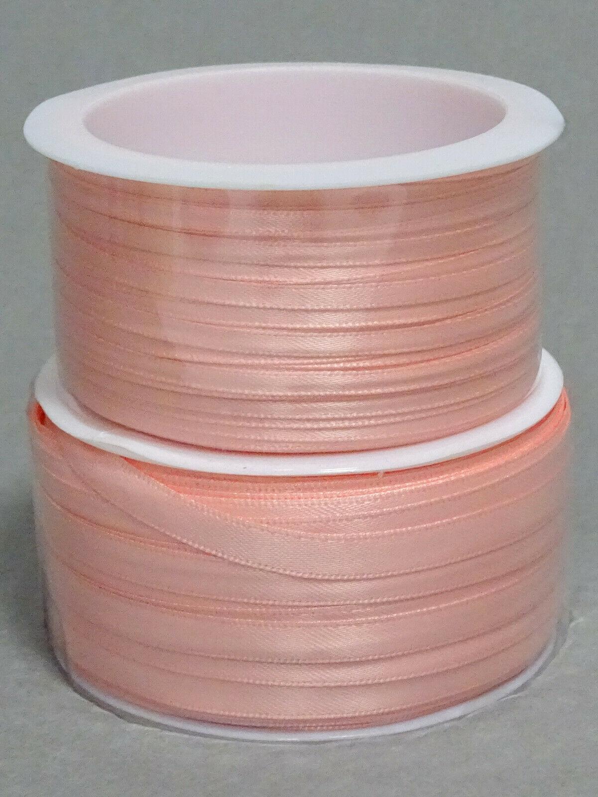 Satinband Schleifenband 50m x 3mm / 6mm Dekoband ab 0,05 €/m Geschenkband Rolle - Mellow Rose 216, 3 mm x 50 m