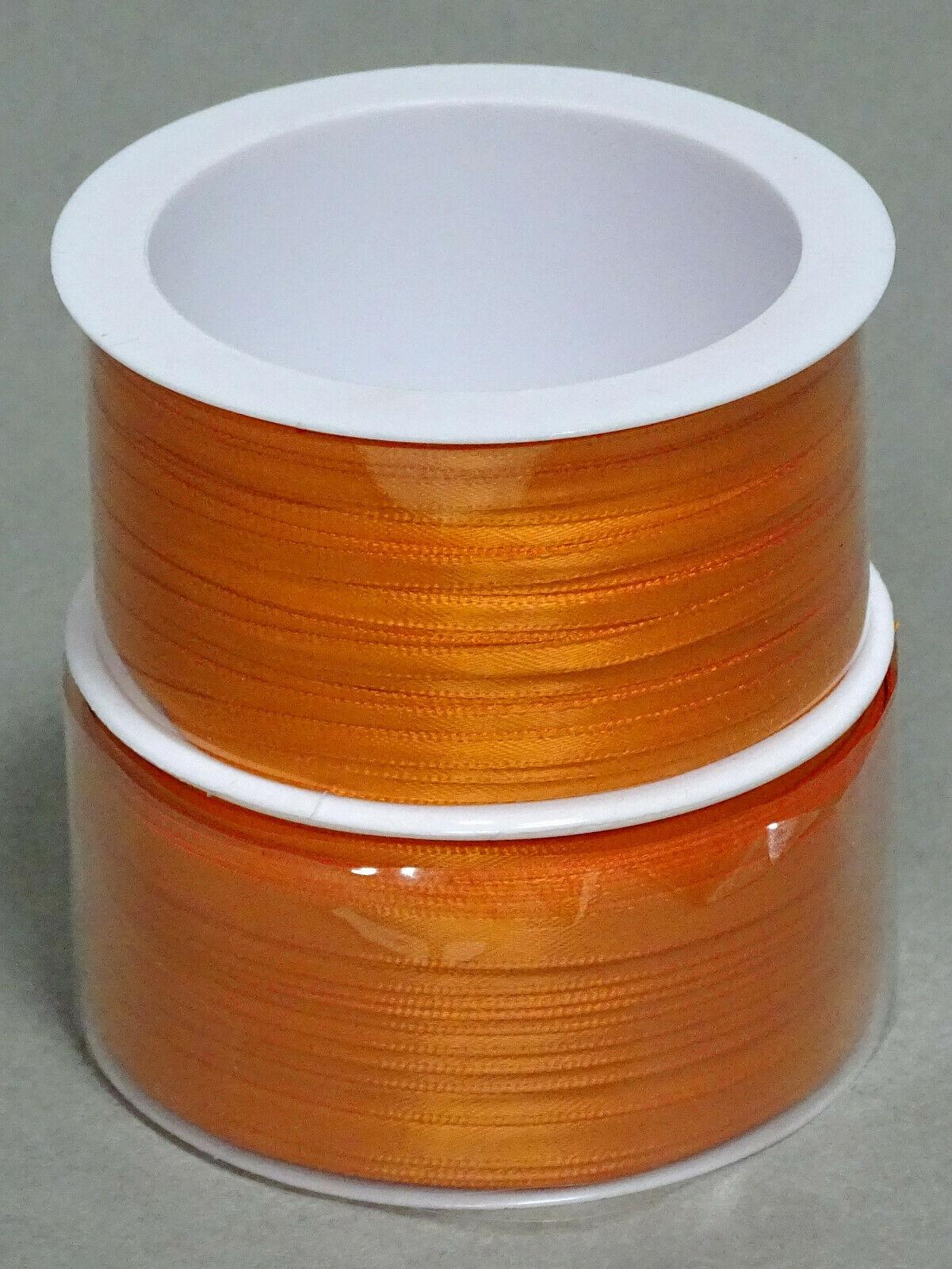 Satinband Schleifenband 50m x 3mm / 6mm Dekoband ab 0,05 €/m Geschenkband Rolle - Orange 236, 3 mm x 50 m