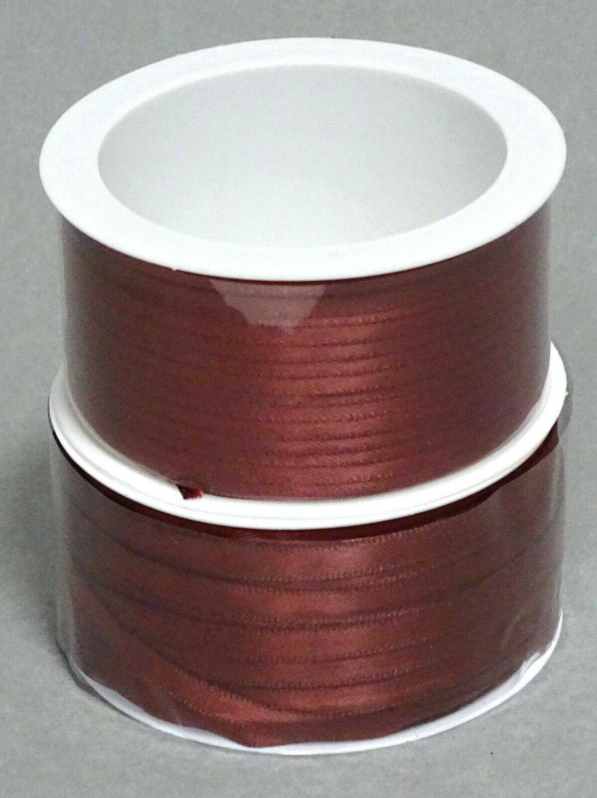 Satinband Schleifenband 50m x 3mm / 6mm Dekoband ab 0,05 €/m Geschenkband Rolle - Bordeaux 124, 3 mm x 50 m