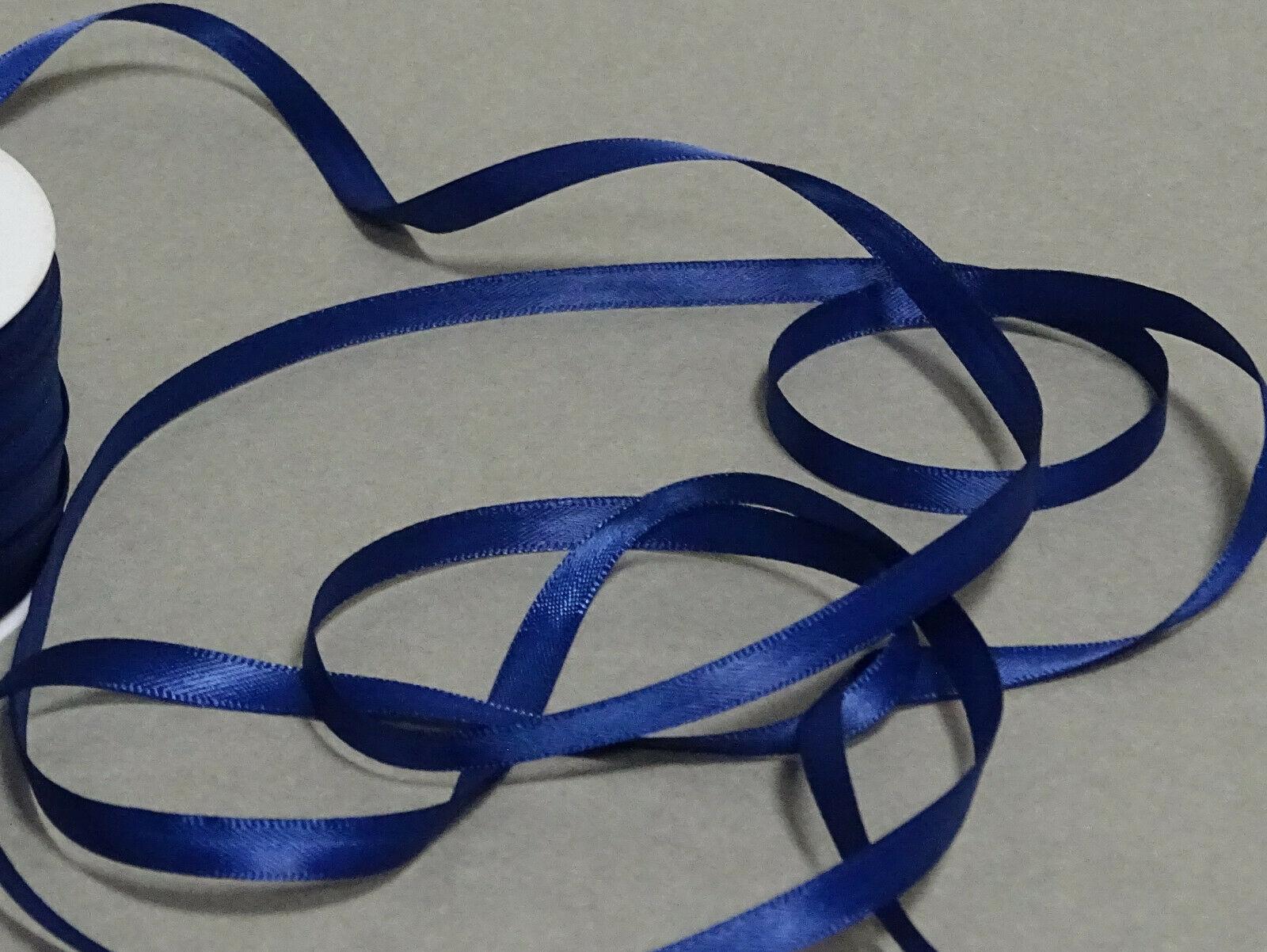 Satinband Schleifenband 50m x 3mm / 6mm Dekoband ab 0,05 €/m Geschenkband Rolle - Blau 120, 3 mm x 50 m
