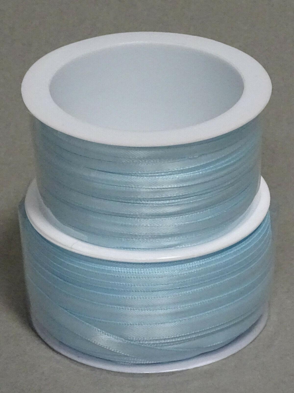 Satinband Schleifenband 50m x 3mm / 6mm Dekoband ab 0,05 €/m Geschenkband Rolle - Baby-Hellblau 152, 3 mm x 50 m