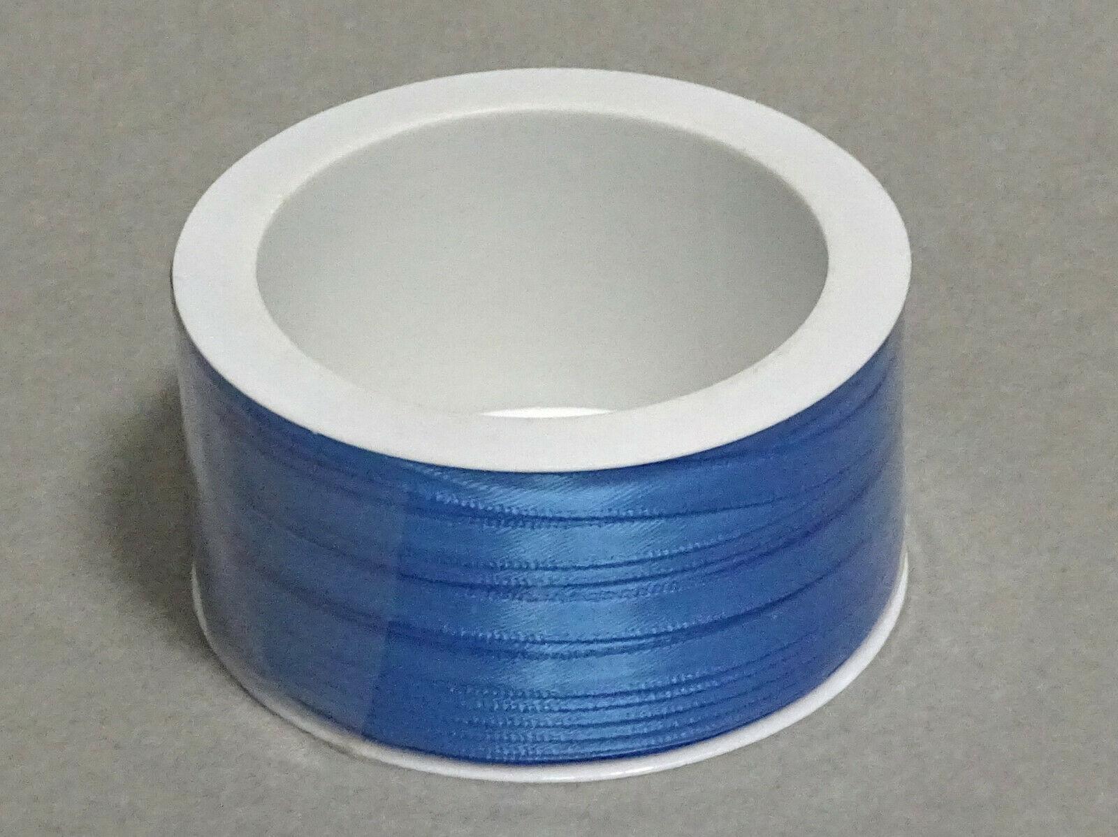 Satinband Schleifenband 50m x 3mm / 6mm Dekoband ab 0,05 €/m Geschenkband Rolle - Mid Blue 754, 3 mm x 50 m