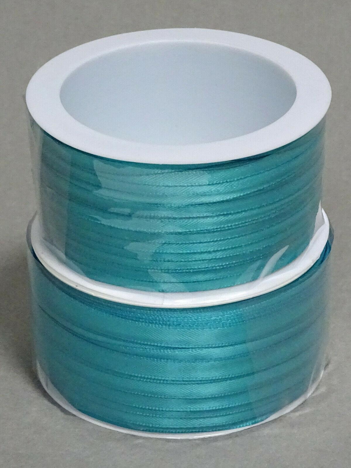 Satinband Schleifenband 50m x 3mm / 6mm Dekoband ab 0,05 €/m Geschenkband Rolle - Petrol 118, 3 mm x 50 m