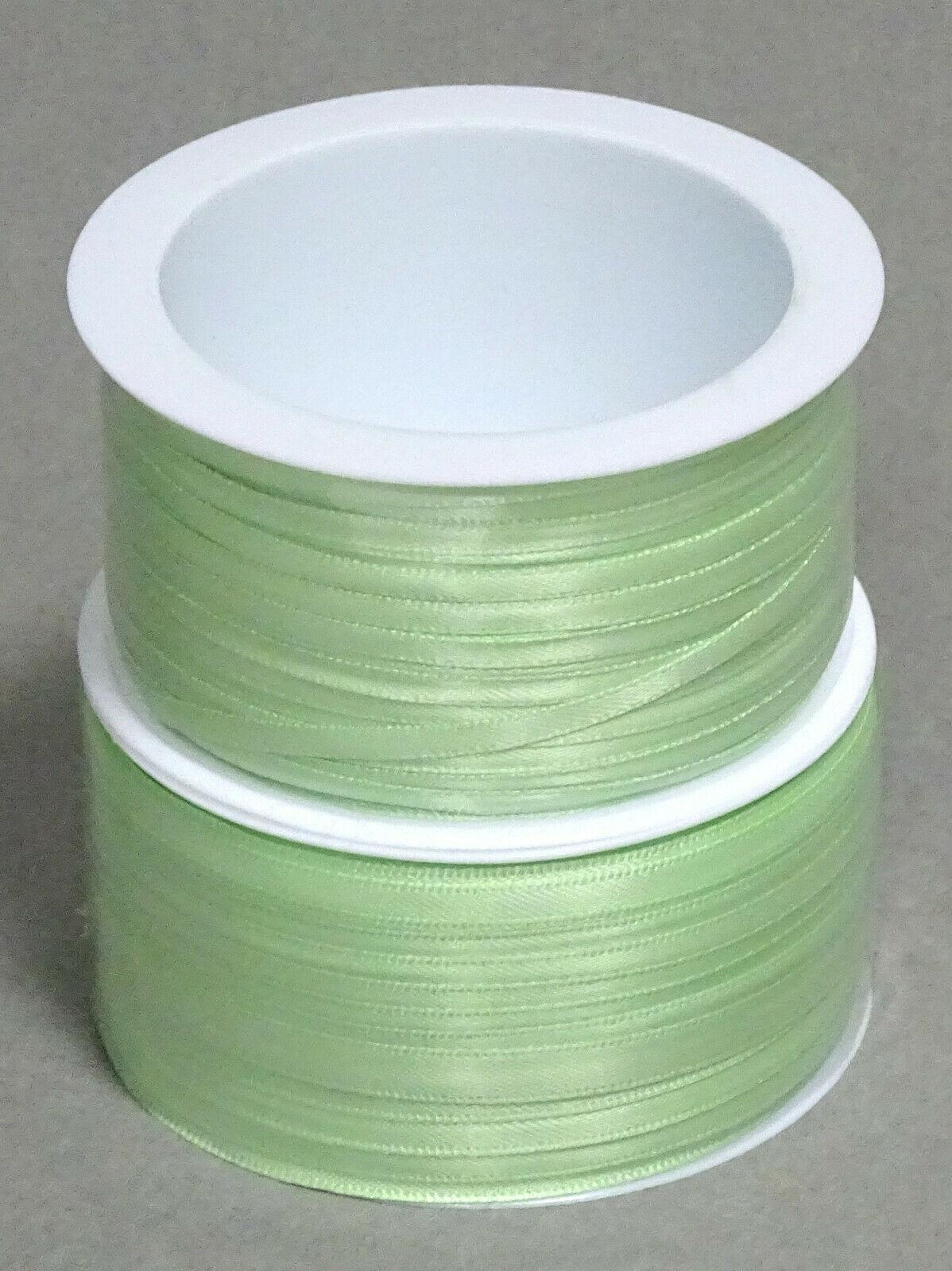 Satinband Schleifenband 50m x 3mm / 6mm Dekoband ab 0,05 €/m Geschenkband Rolle - Lindgrün 109, 3 mm x 50 m