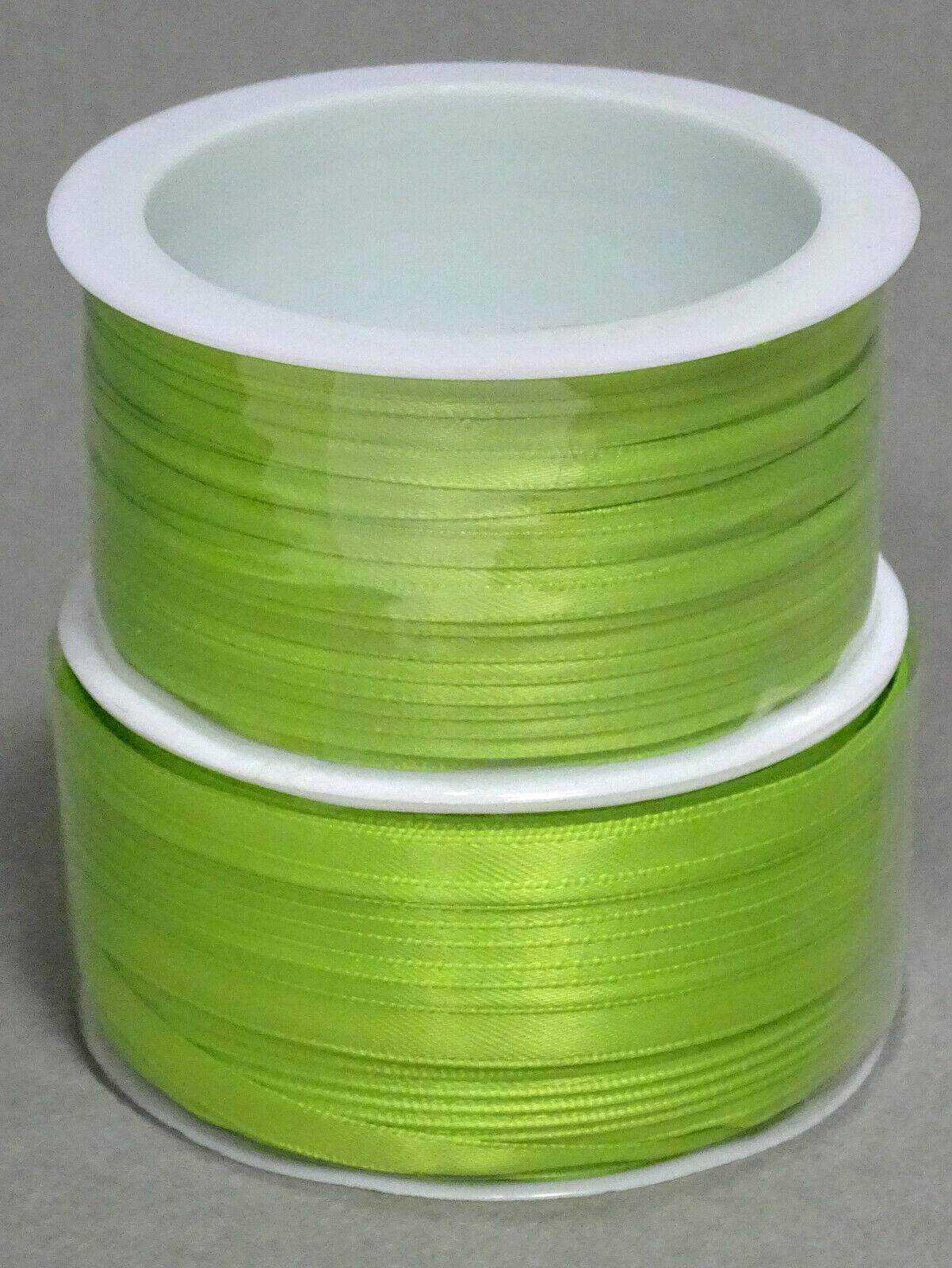 Satinband Schleifenband 50m x 3mm / 6mm Dekoband ab 0,05 €/m Geschenkband Rolle - Kiwi 210, 3 mm x 50 m