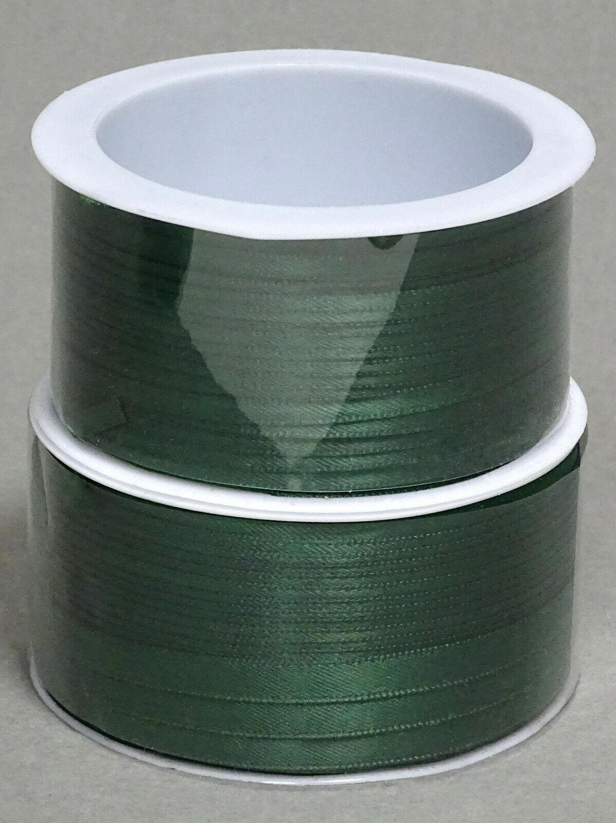 Satinband Schleifenband 50m x 3mm / 6mm Dekoband ab 0,05 €/m Geschenkband Rolle - Dunkelgrün 111, 6 mm x 50 m
