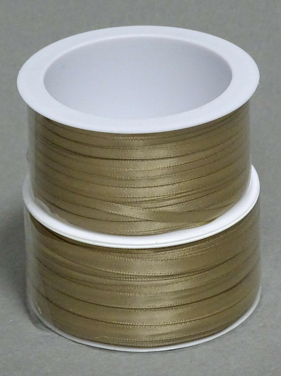 Satinband Schleifenband 50m x 3mm / 6mm Dekoband ab 0,05 €/m Geschenkband Rolle - Cappuccino105, 3 mm x 50 m