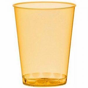 100 - 200 Stück Einweg Schnapsgläser 49 ml (Eichstrich: 2 cl/4 cl) Neon Farben - 200 Stück=10 Pack. x 20 Stück, Orange