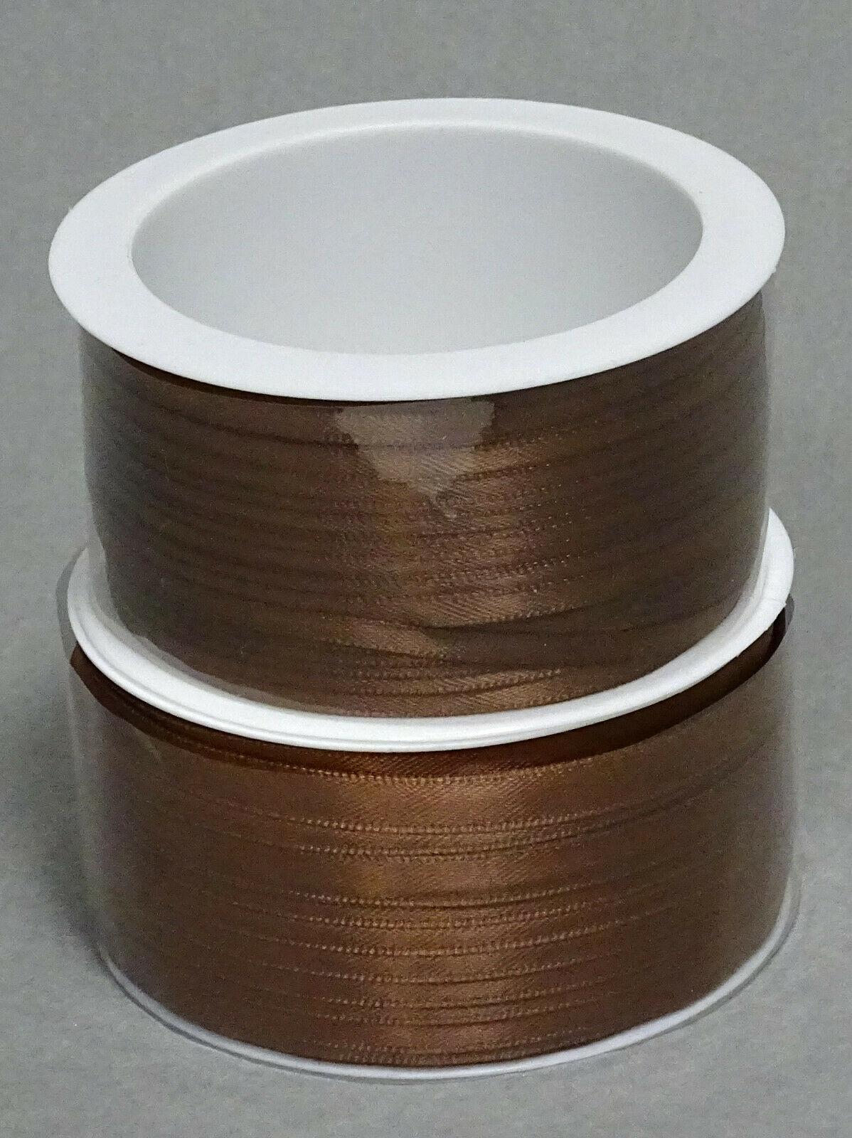 Satinband Schleifenband 50m x 3mm / 6mm Dekoband ab 0,05 €/m Geschenkband Rolle - Braun 132, 3 mm x 50 m