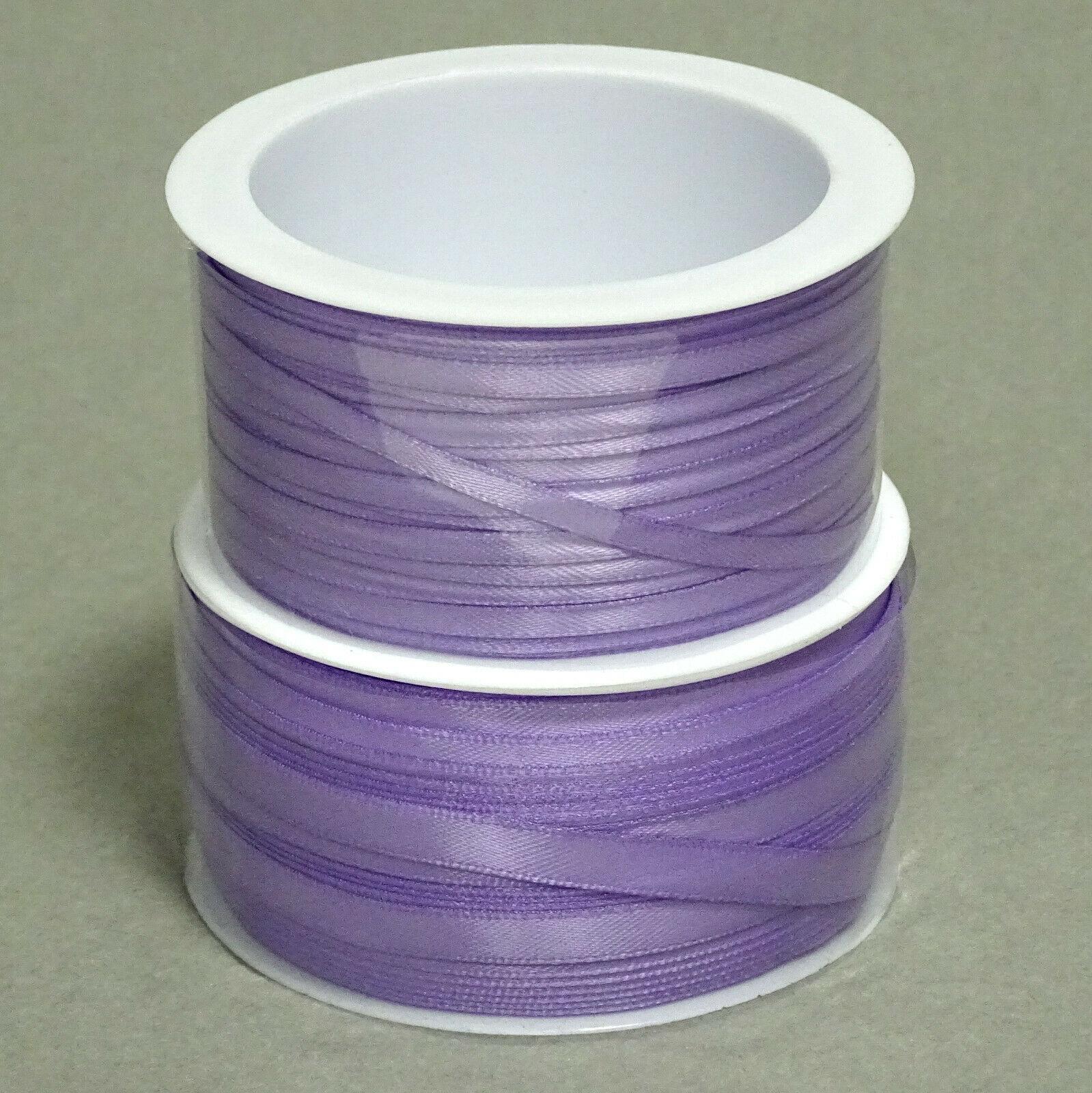 Satinband Schleifenband 50m x 3mm / 6mm Dekoband ab 0,05 €/m Geschenkband Rolle - Flieder 116, 3 mm x 50 m