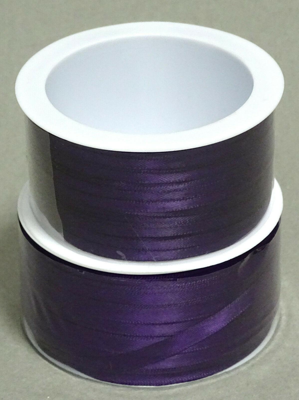 Satinband Schleifenband 50m x 3mm / 6mm Dekoband ab 0,05 €/m Geschenkband Rolle - Violett 133, 3 mm x 50 m