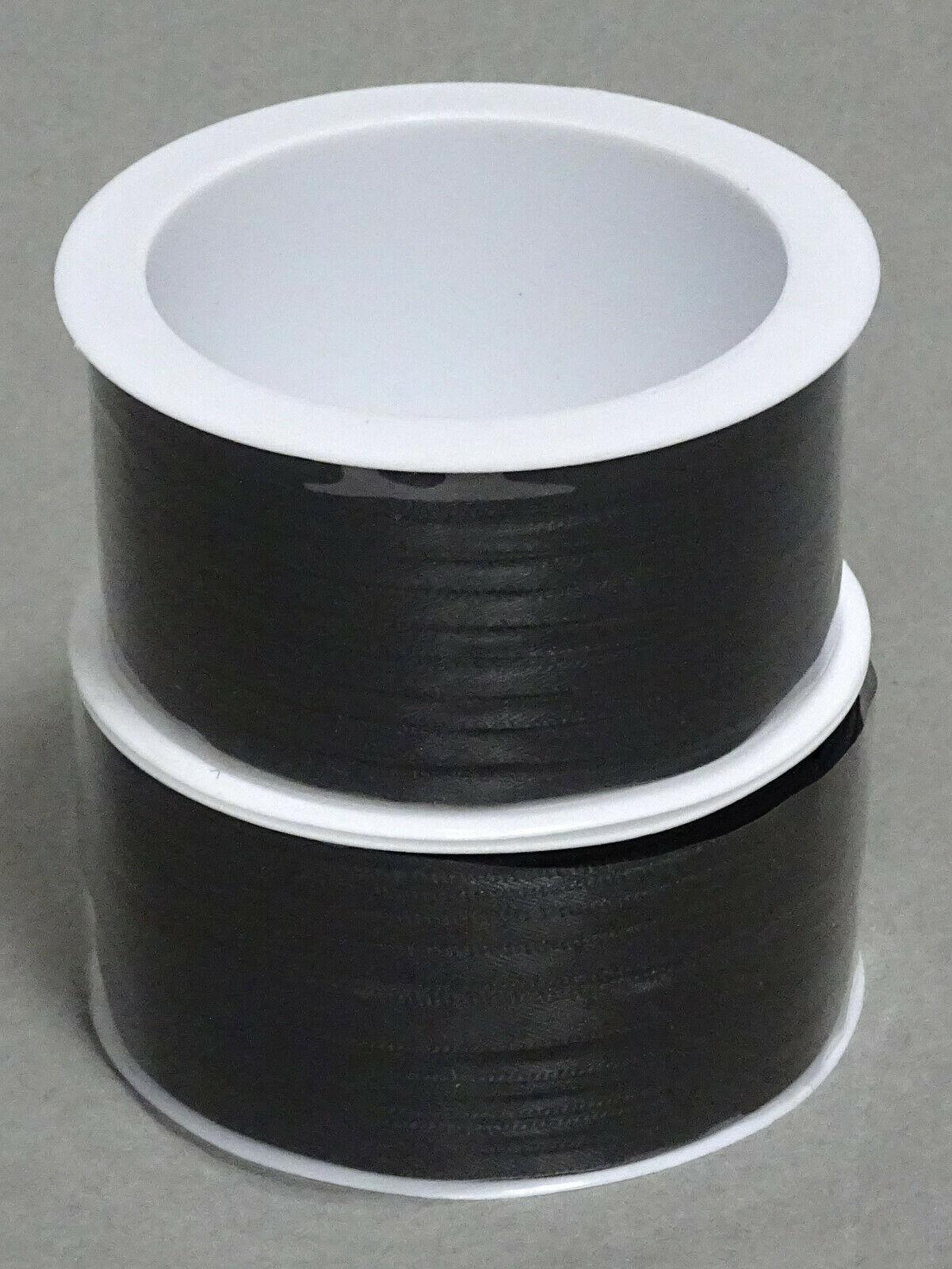Satinband Schleifenband 50m x 3mm / 6mm Dekoband ab 0,05 €/m Geschenkband Rolle - Schwarz 113, 3 mm x 50 m