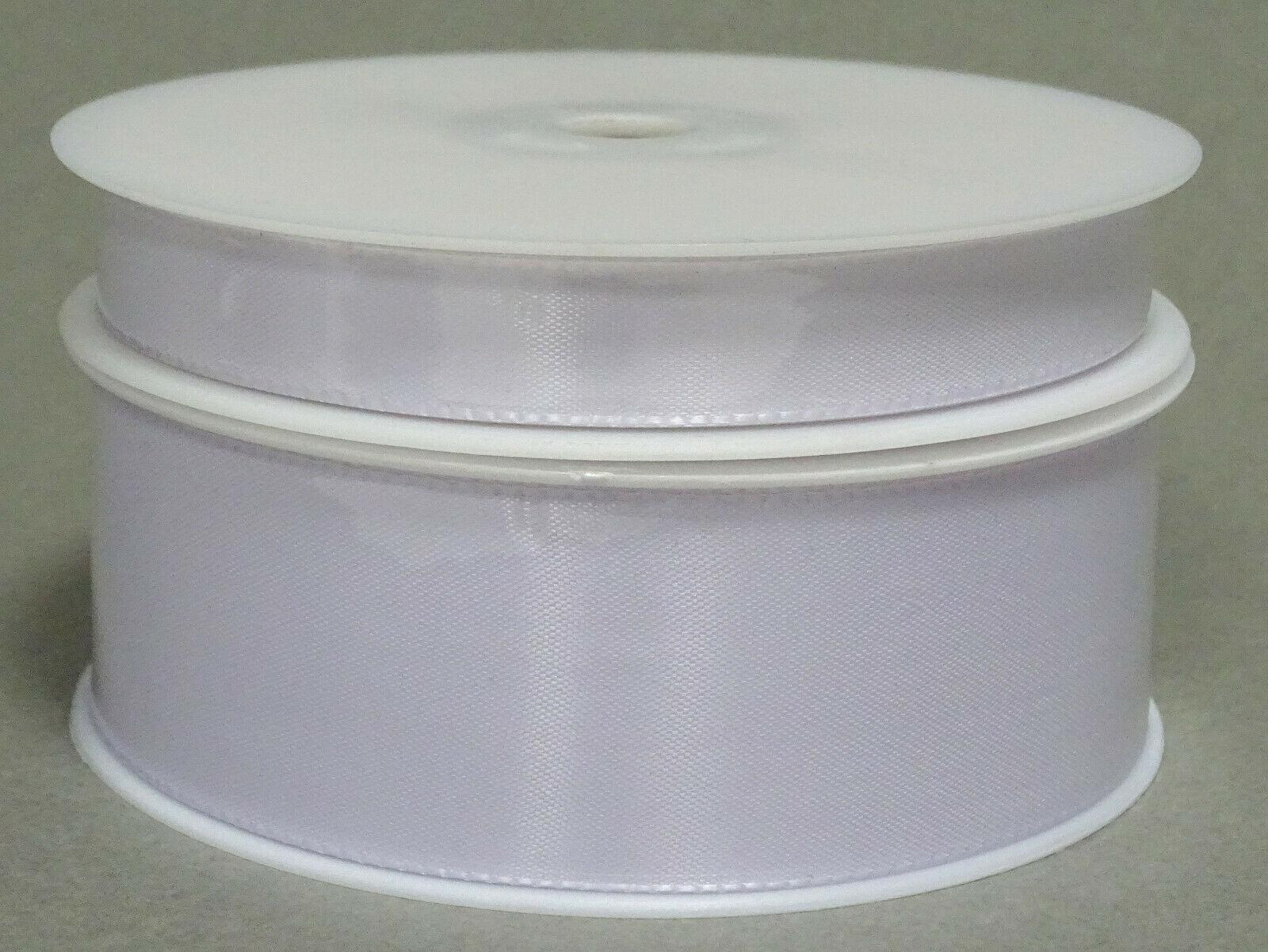 Seidenband Schleifenband 50 m x 15 mm / 40 mm Dekoband ab 0,08 €/m Geschenkband  - Weiß 101, 40 mm x 50 m