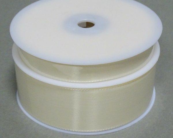 Seidenband Schleifenband 50 m x 15 mm / 40 mm Dekoband ab 0,08 €/m Geschenkband  - Elfenbein 202, 40 mm x 50 m